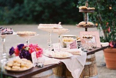 Ideas para decorar una mesa de postres en tu boda