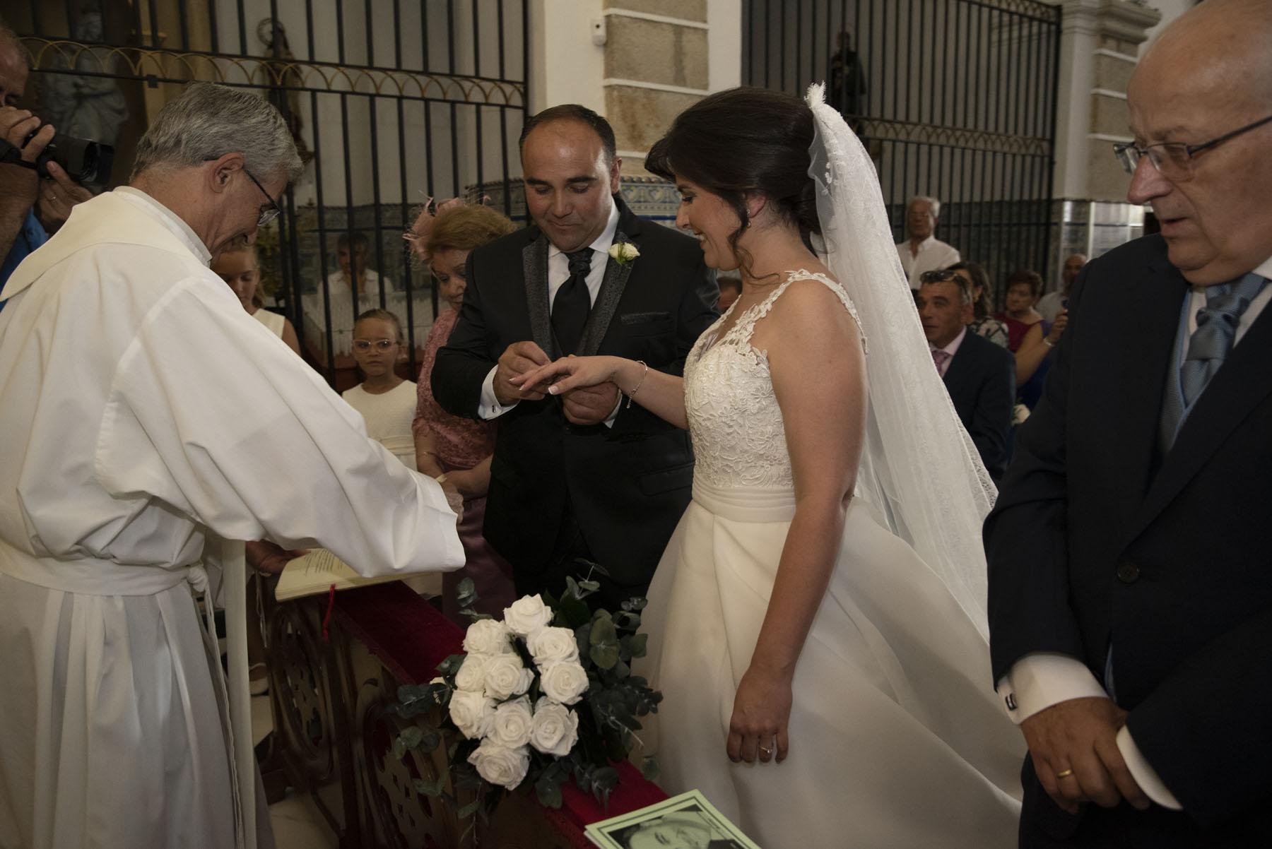 Fotografía de boda religiosa en Badajoz